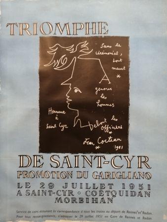 Manifesti Cocteau - Triomphe de Saint Cyr - Promotion du Garigliano -