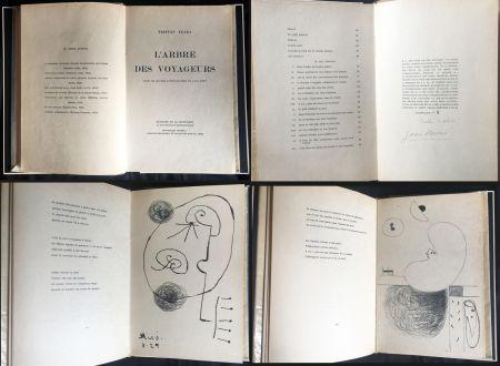 Libro Illustrato Miró - Tristan Tzara. L'ARBRE DES VOYAGEURS. Orné de quatre lithographies de Joan Miró.