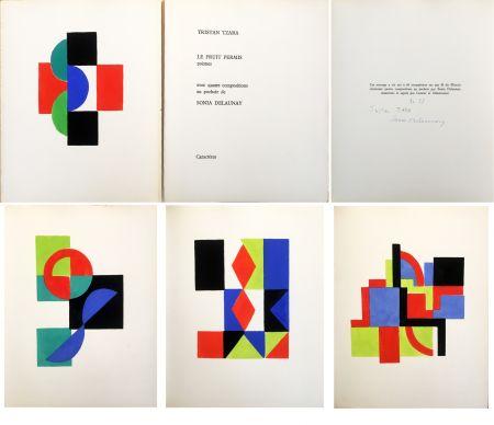 Libro Illustrato Delaunay - Tristan Tzara. LE FRUIT PERMIS. 4 pochoirs (1956)
