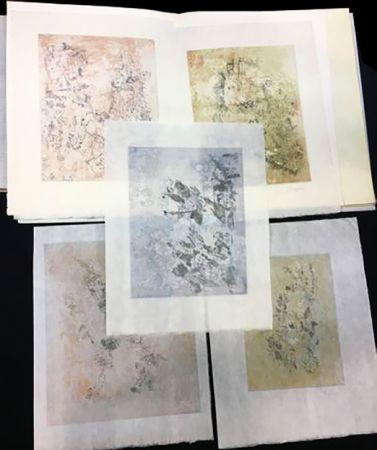Libro Illustrato Bryen - Tristan Tzara. VIGIES. 5 eaux-fortes originales (1962).