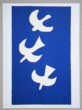 Litografia Braque (After) - Troi oiseaux