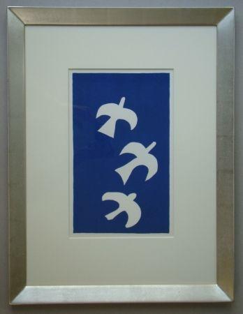 Litografia Braque - Trois Oiseaux