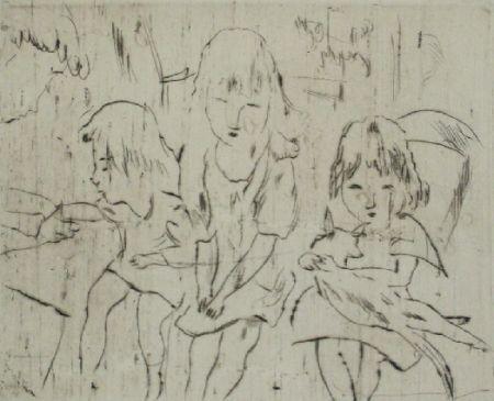 Punta Secca Pascin - Trois petites filles