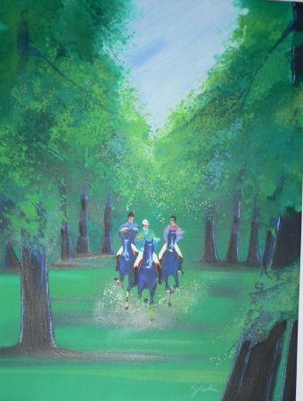 Litografia Spahn - Trot en sous bois