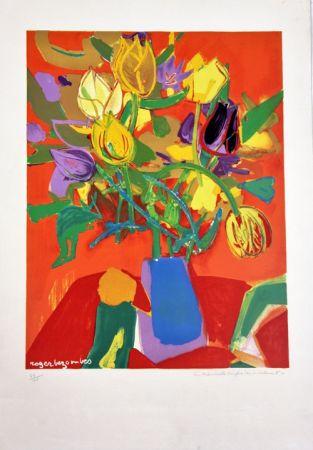 Litografia Bezombes - Tulipes