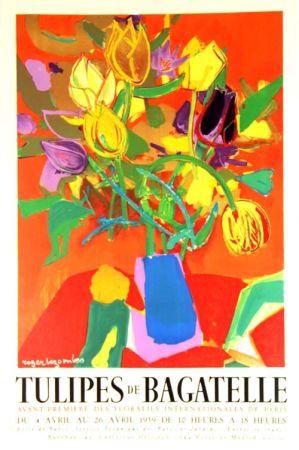 Litografia Bezombes - Tulipes de Bagatelle