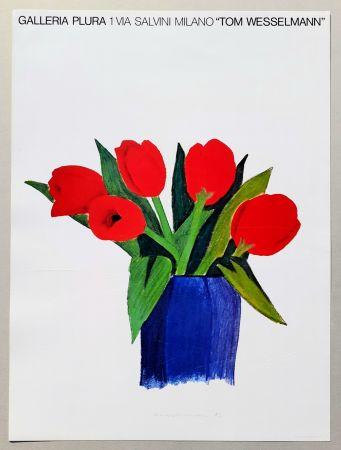Litografia Wesselmann - Tulips in a vase