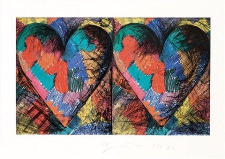 Litografia Dine - Two Louisiana Hearts
