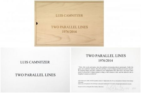 Multiplo Camnitzer - Two Parallel lines
