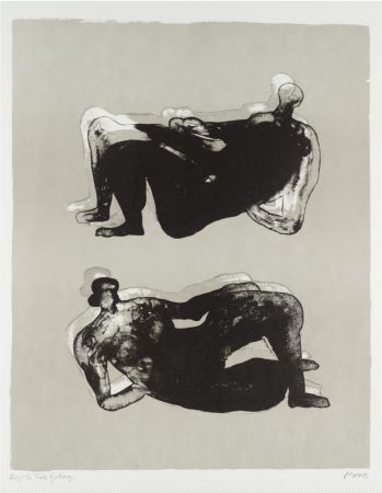 Litografia Moore - Two Reclining Figures