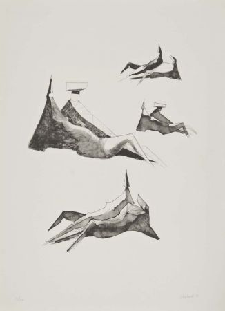 Litografia Chadwick - Two seating figures II
