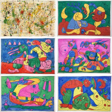 Libro Illustrato Miró - UBU ROI (A. Jarry) Lithographies originales en couleurs (1966).