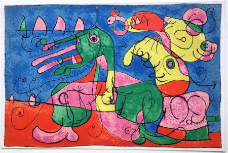 Litografia Miró - UBU ROI : CHEZ LE TZAR (1966).