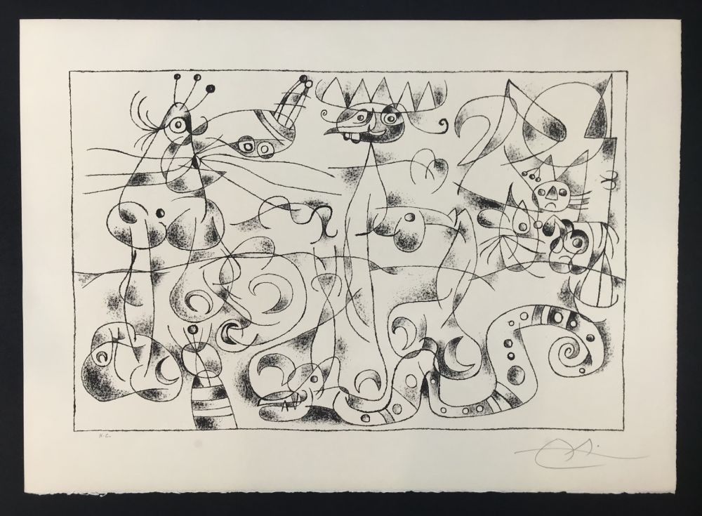 Litografia Miró - Ubu Roi (King Ubu ) from 'Suites por Ubu Roi'