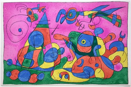 Litografia Miró - UBU ROI : LA MERE UBU ET LE TZAR (1966).