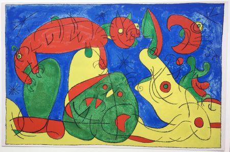 Litografia Miró - UBU ROI : LA NUIT L'HEURE (1966).
