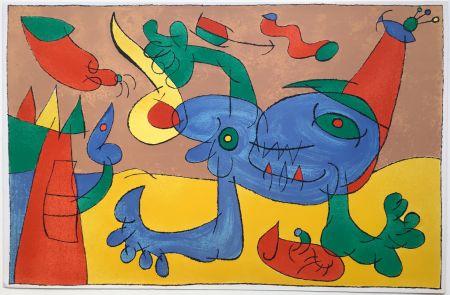Litografia Miró - UBU ROI : LE MASSACRE DU ROI DE POLOGNE (1966).