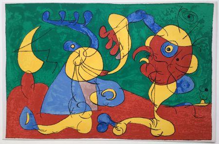 Litografia Miró - UBU ROI : LES NOBLES A LA NAPPE (1966).