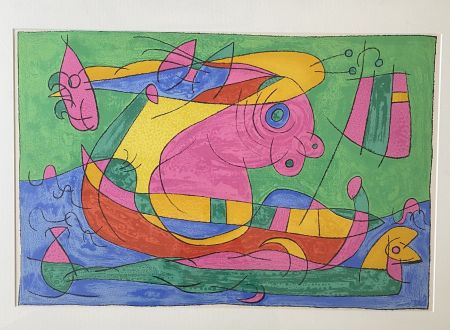 Litografia Miró - UBU Roi (plate 13)