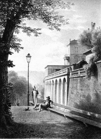 Litografia Fontanesi - Un coin de la Treille