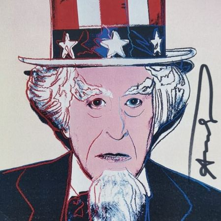 Serigrafia Warhol - Uncle Sam