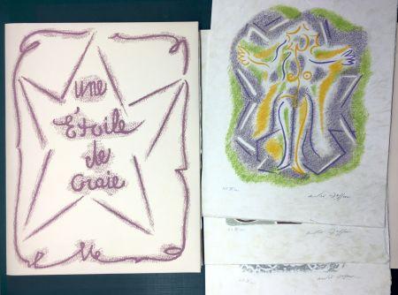 Libro Illustrato Masson - UNE ÉTOILE DE CRAIE. Seize lithographies originales signées d'André Masson