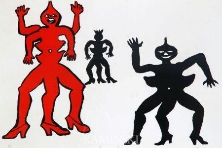 Litografia Calder - Une famille de là bas
