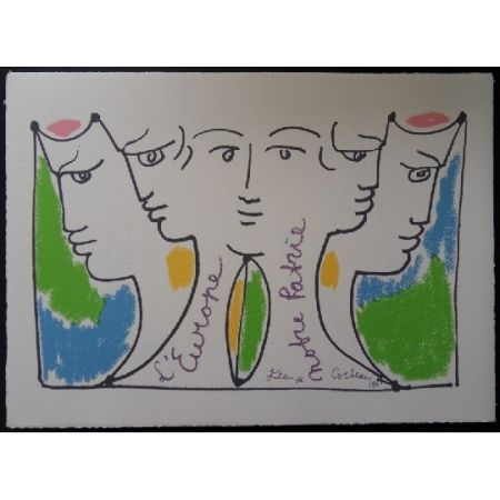 Litografia Cocteau - Union Européenne
