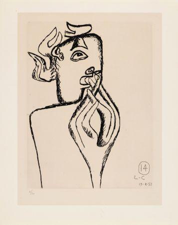 Acquaforte Le Corbusier - Unité. Planche 14