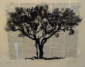 Linoincisione Kentridge - Universal Archive Tree D