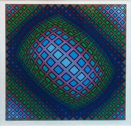 Serigrafia Vasarely - UNKNOWN TITLE
