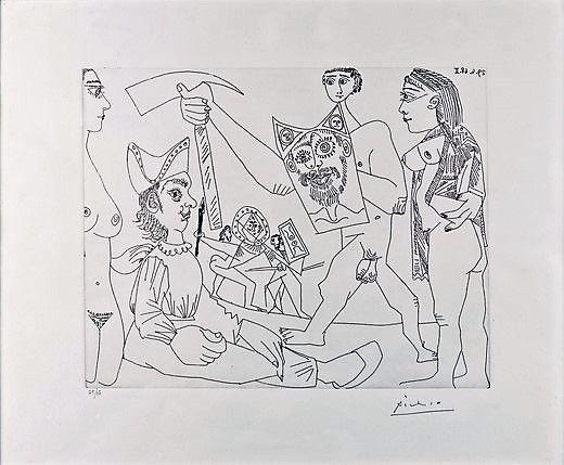 Acquaforte Picasso - UNTITLED