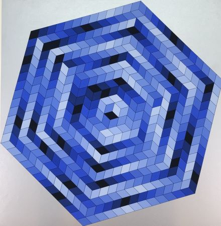 Litografia Vasarely - Untitled