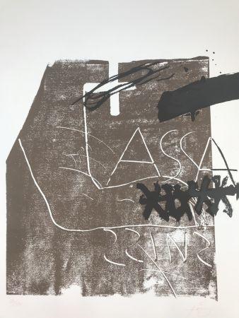 Litografia Tàpies - Untitled