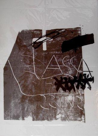 Litografia Tapies - Untitled