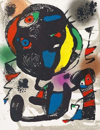 Litografia Miró - Untitled