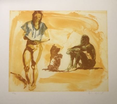 Incisione Fischl - Untitled