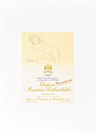 Litografia Balthus - Untitled