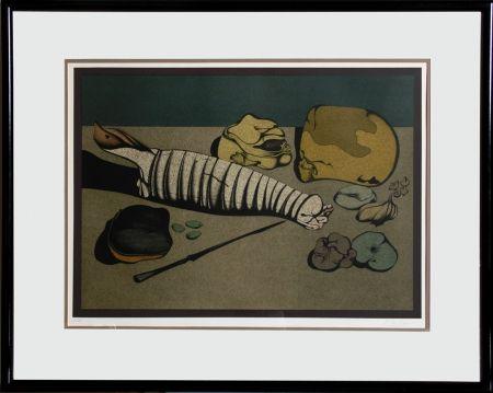 Litografia Chemiakin - Untitled - Nature Morte