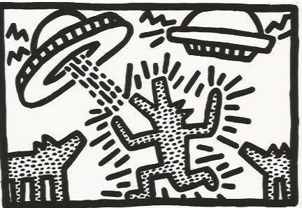 Litografia Haring - Untitled 4