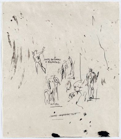 Serigrafia Basquiat - Untitled 5 (from Leonardo)
