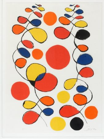 Litografia Calder - Untitled (Composition With Spirals And Circles)