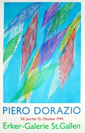 Litografia Dorazio - Untitled (Exhibition Poster)
