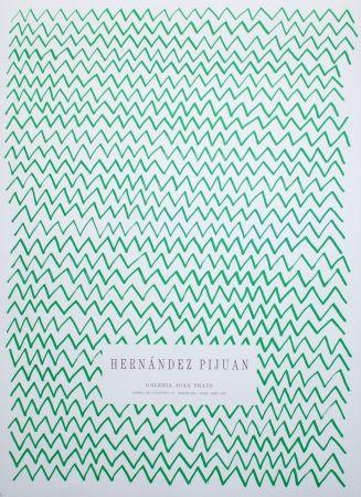 Litografia Hernandez Pijuan - Untitled (Exhibition poster)