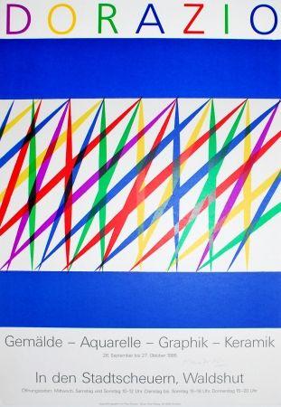 Litografia Dorazio - Untitled (Exhibition poster)
