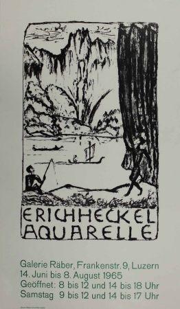 Litografia Heckel - Untitled (Exhibition poster)