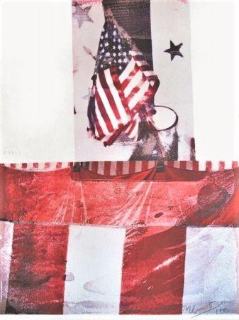 Litografia Rauschenberg - Untitled (For Kennedy)