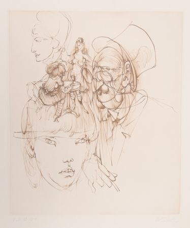 Incisione Bellmer - Untitled (From Alice In Wonderland)