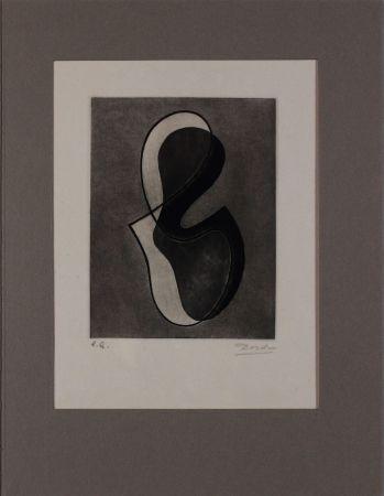 Acquaforte Domela - Untitled from 'Avanguardia internazionale', vol. 4