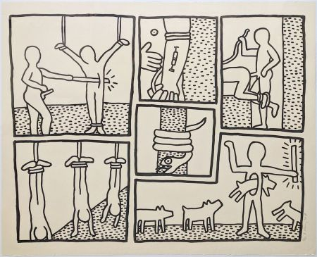 Serigrafia Haring - UNTITLED (FROM BLUEPRINT DRAWINGS)